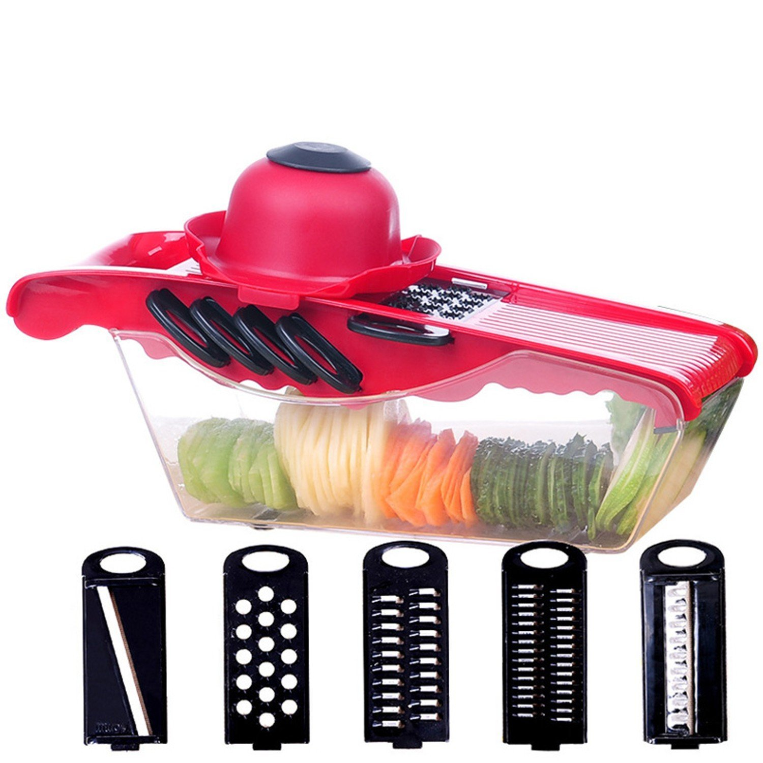 5in1 Manual Vegetable Cutter Slicers Garlic Presses Potato Graters Kitchen Accessories Shredding Machine