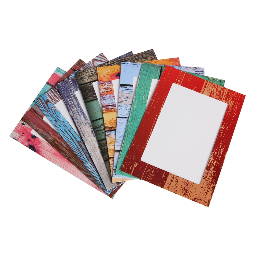 9 Pcs Paper Photo Frame 7 inch DIY Combination Wall Photo Frame Clips DIY Hanging Wall Picture Album Kraft Home Decoration