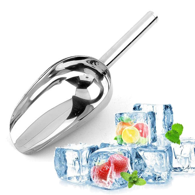 AREYOUCAN 8-13Inch Stainless Steel Ice Scraper Food Buffet Candy Bar Ice Scoops Shovel