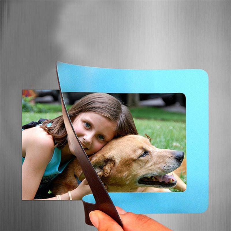 Colorful Magnetic Picture Frames 11.8*16cm Photo Magnets Photoframe Refrigerato PVC Home Decor Modern Magnetic Photo Fridge New