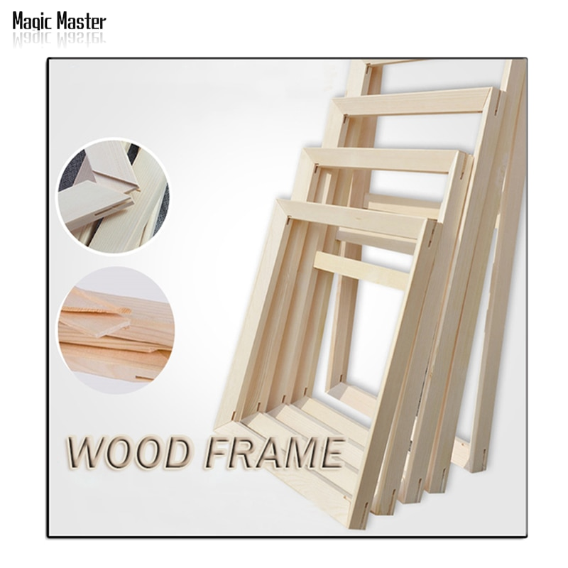 Factory Price Wood frame Suit for All kinds of diy oil painting Thick Convex wood frame wall painting picture frame Photo door