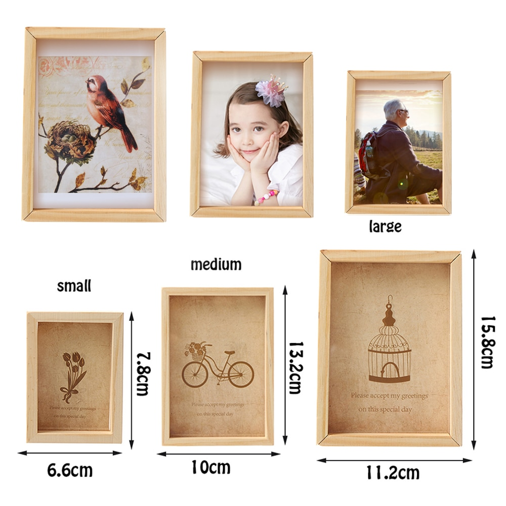Family Vintage Multi Photo Frame Online Home Decor Art Wooden Wedding Mini Pictures Frames Vintage DIY Family Frame Home Decor