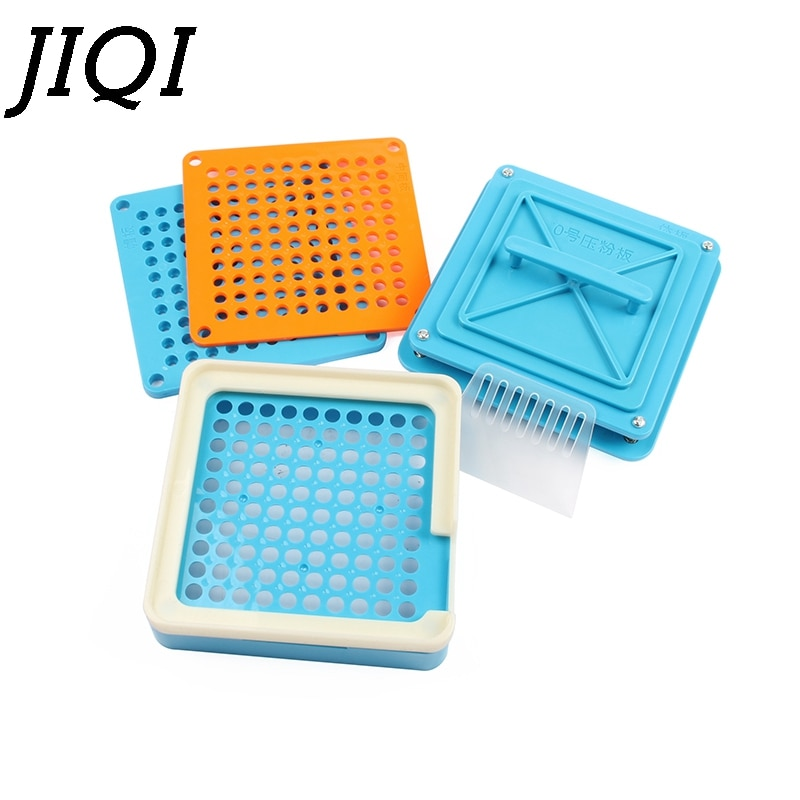 JIQI 100 Holes Manual Capsule Filling Machine #0 Pharmaceutical Capsules Maker DIY Medicine Herbal Pill Powder Filler Size 0