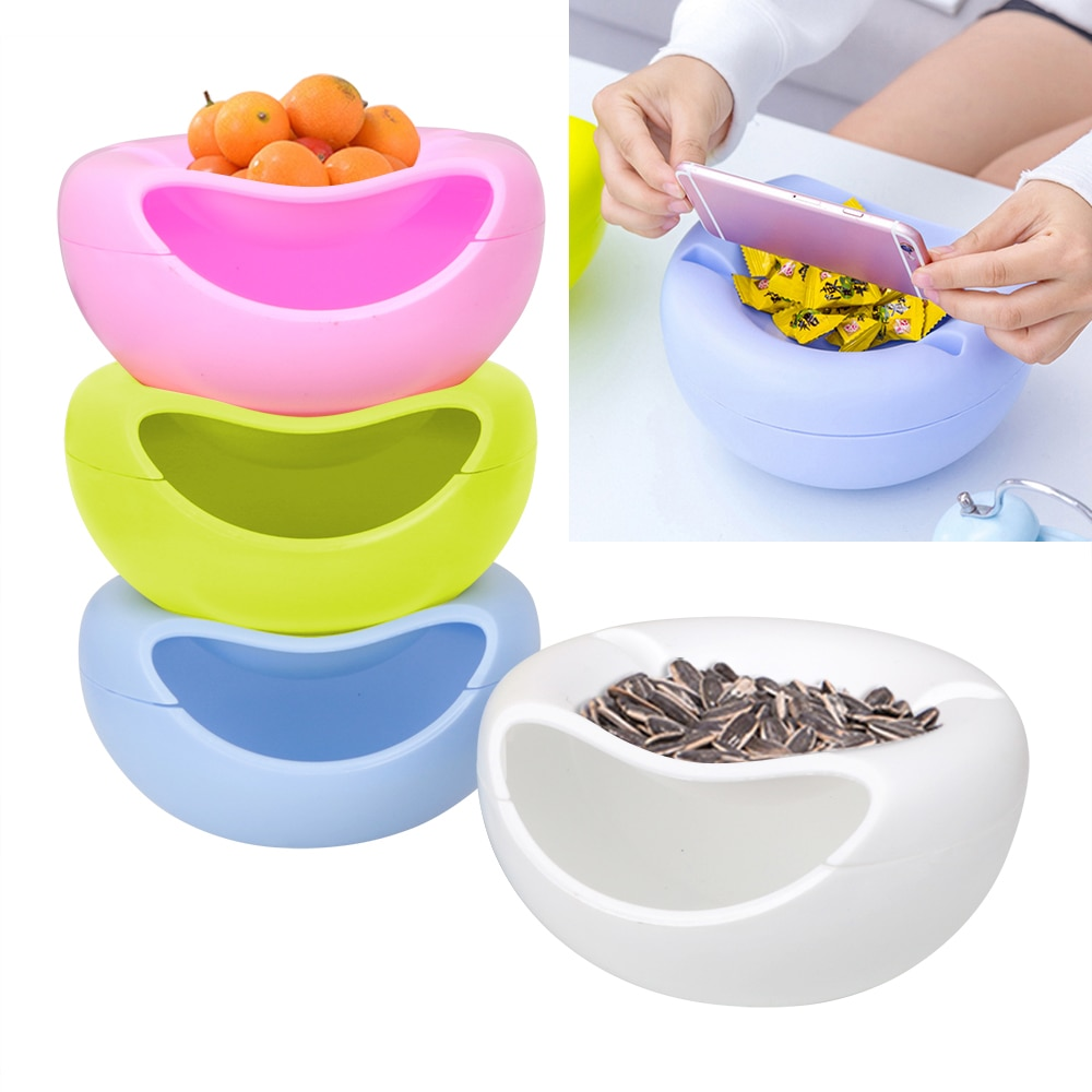 Multifunctional Basket Snacks Nut Melon Seeds Bowl Plastic Fruit Dish Double Layer Candy Plate Peels Shells Fruit Skin Box