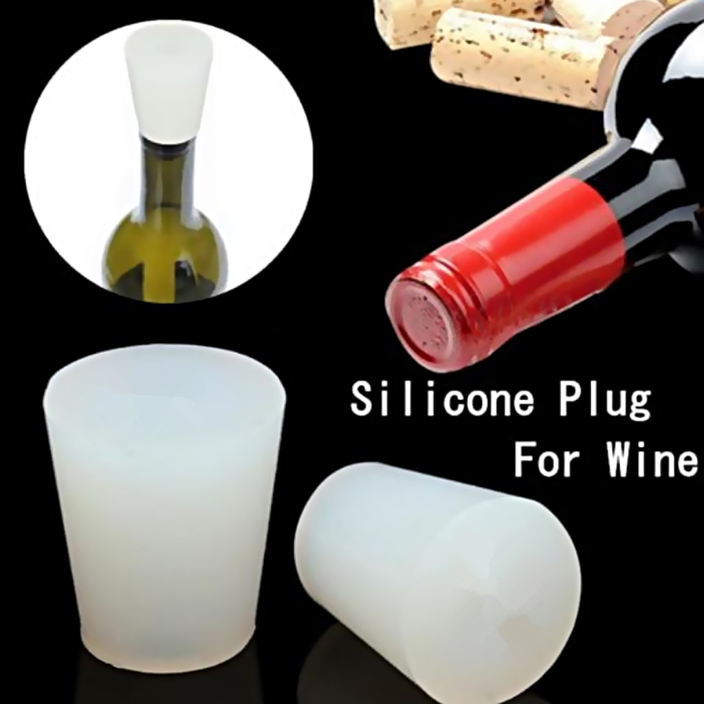 No.5 Silicone Plug Solid Bung No Hole Rubber Stopper Home Brew Wine Making