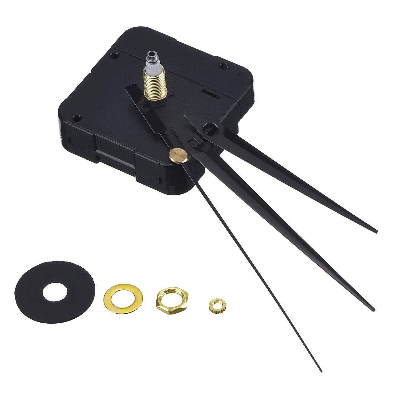 Practical DIY High Torque Clock Mechanism, 3/ 10 Inch Maximum Dial Thickness, 4/ 5 Inch Total Shaft Length (Black)