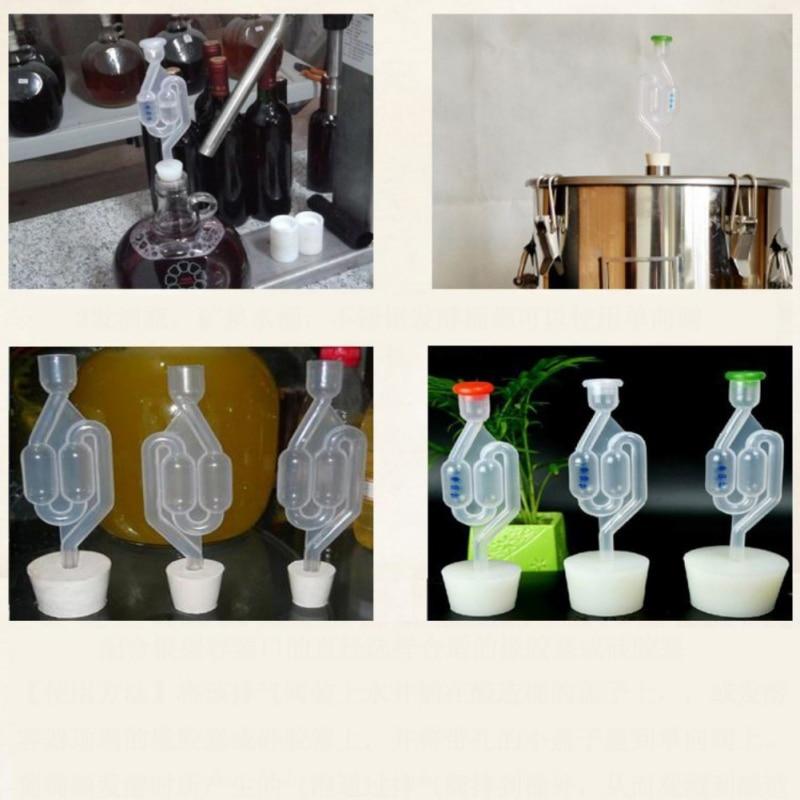 S-Shape Air Lock Twin Bubble Grommet Homebrew Beer Fermentation Wine Making