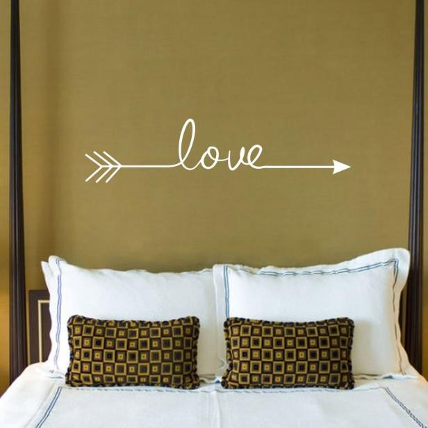 multiple Colour Love arrow decals wall sticker living room bedroom vinyl engraved wall decals home decoration stickers