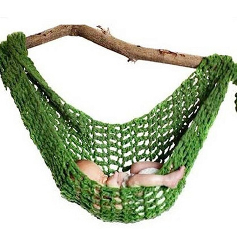 1 Pc High Quality Portable Crochet Baby Hammock Photography Props Knitted Newborn Infant Costume Toddler Photo Decoration Props