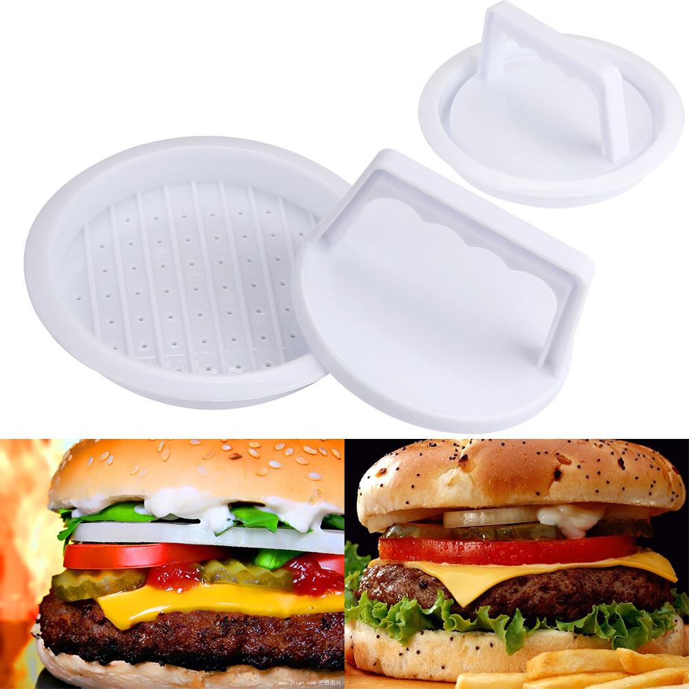 1PC Hamburger Press Mold + 1PC Pressing Plate Patty Burger Press Maker Mince BBQ meat tenderizer sausage stuffer kitchen carcasa