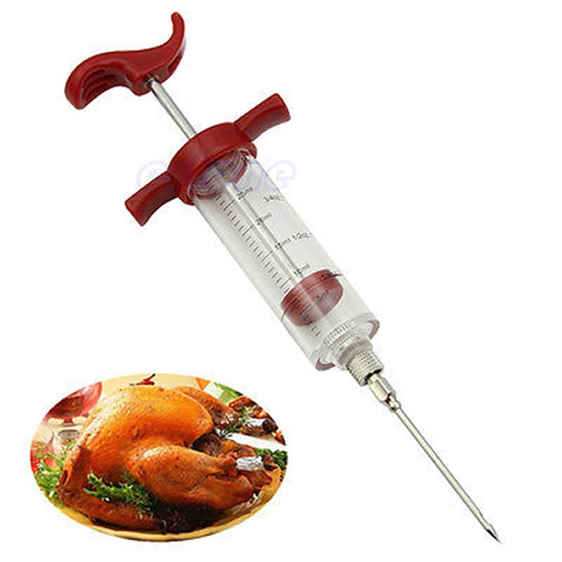 5Pcs Marinade Syringes Needle For BBQ Grill Flavor Turkey Flavor Injector Stainless Steel Kithen Cooking Sauce Marinade Accessor
