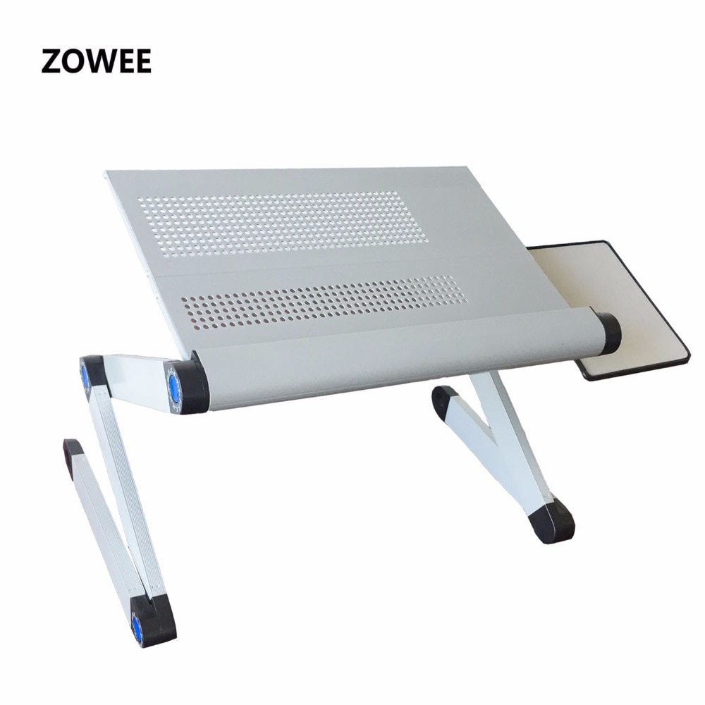 Adjustable Portable Laptop Table Stand Lap Sofa Bed Tray Computer Notebook Desk bed table with Mouse Table ZW-CD06