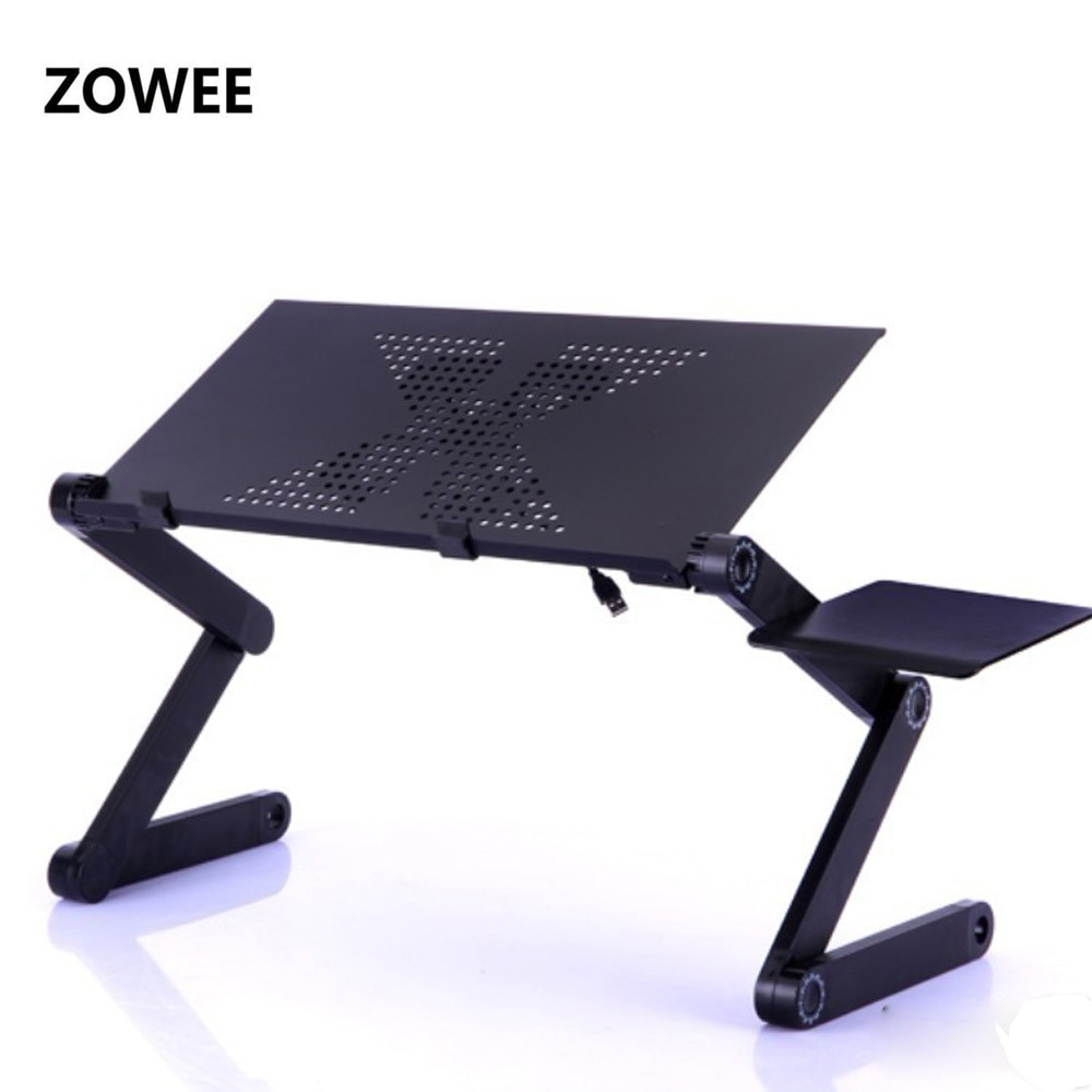 Adjustable Portable Laptop Table Stand Lap Sofa Bed Tray Computer Notebook Desk bed table with Mouse Board ZW-CD05