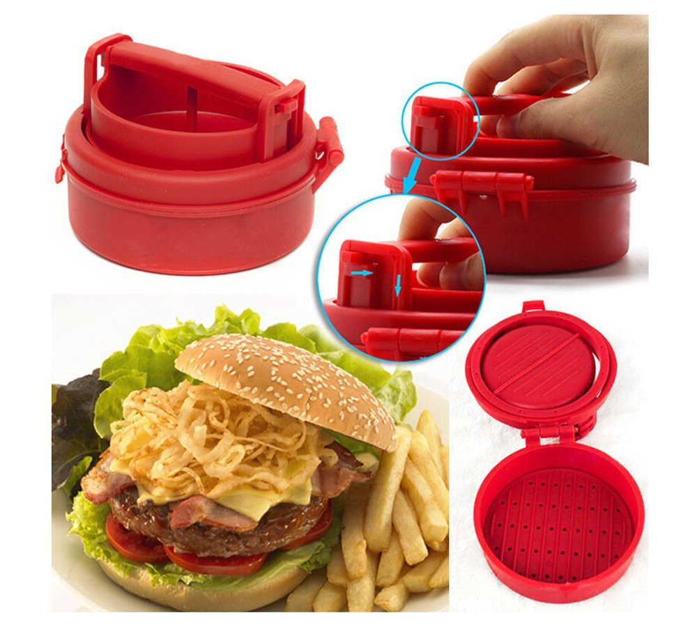 Manual Hamburger Forms Press Burger  Patties Maker Press  Chef Cutlets Stuffed Hamburger Mold Grill Kitchen Tools Gadgets naruto