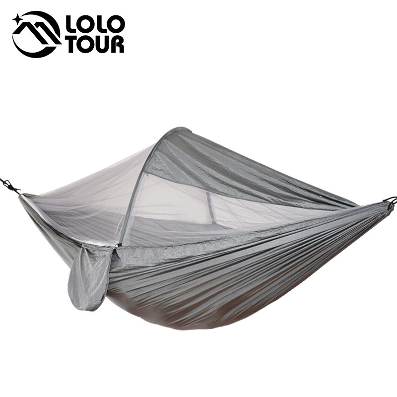 Mosquito Free Netting Hammock 2 Person Camping Tent Portable Survivor With Net Hanging Swing Hammc Bed Use Hamak