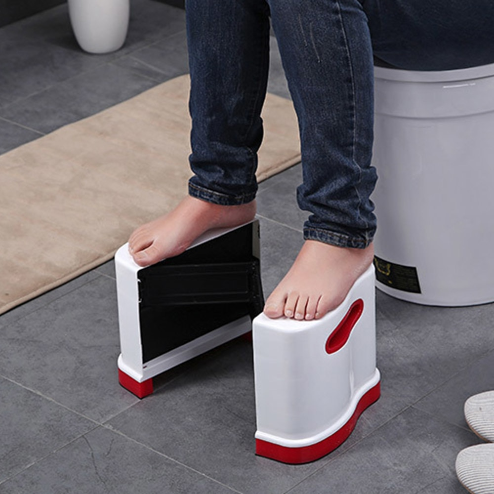 Portable Qualified Bathroom Thicken Folding Stools Toilet Stool Step Footstool Piles Aid Safety Folding Toilet Stool