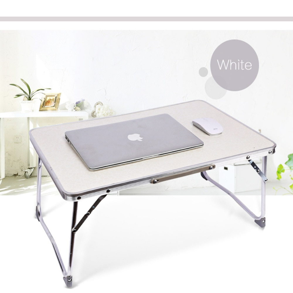 White Folding Computer Desk Multifunctional Light Foldable Table Dormitory Bed Notebook Small Desk Picnic Table Laptop Bed Tray