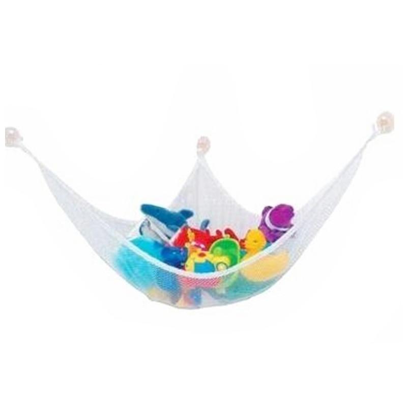 White Practical Toys Hammock Keep Baby Playroom Tidy Storage Baby Toy Holder 120*90*90cm 80*60*60cm 140*80*80cm 140*90*90cm