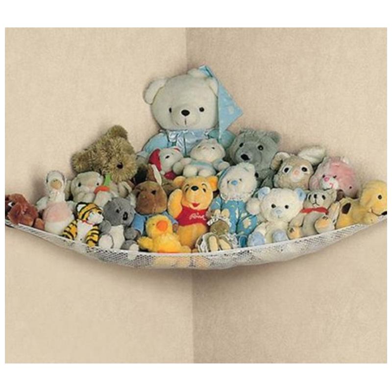 White Practical Toys Hammock Keep Baby Playroom Tidy Storage Baby Toy Holder