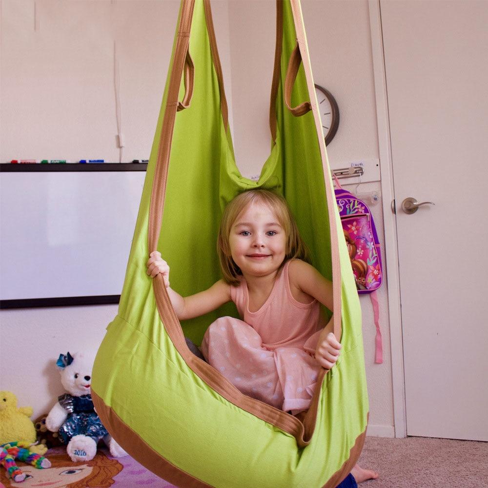 YOYIHOME Outdoor Children  Hammock Garden Furniture Swing Chair Indoor Hanging Seat Child Swing Seat Lifts Patio Portable