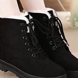 Snow ankle boots women shoes lace-up winter shoes woman